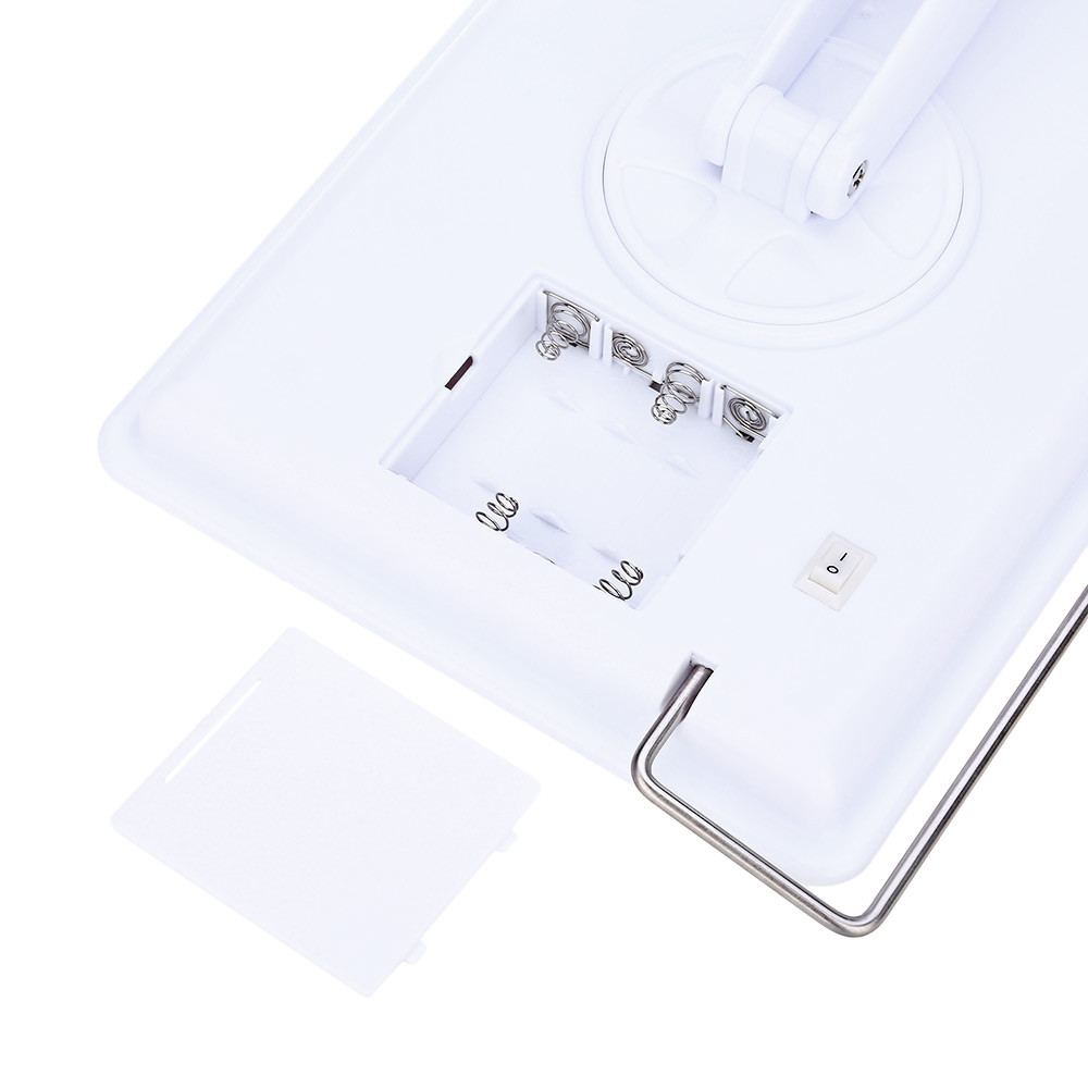 Fashion Portable Rotatable Folding Table 20 LED Lamp Luminous Cosmetic Mirror WHITE
