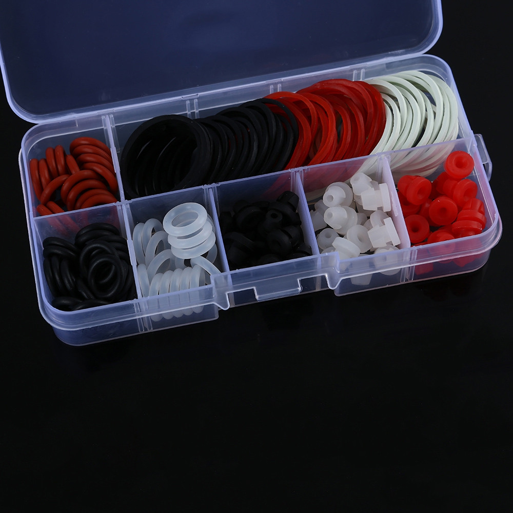 Tattoo Accessories Kit O-rings Rubber Bands Pin Cushions Supplies with Small Storage Box WHITE