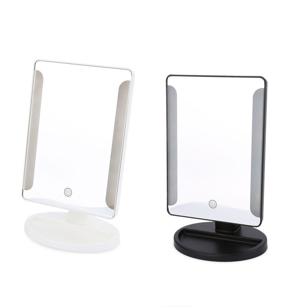 Fashion 36 LED USB Power Portable Folding Toilet Lighted Cosmetic Mirror BLACK