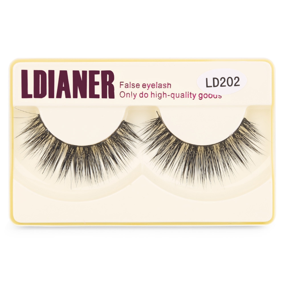 LDIANER Thick Long Makeup Styling Tools Fake Eyelashes BLACK