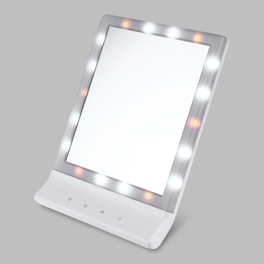 Fashion Table 18 LEDs Lamp Luminous Cosmetic Mirror WHITE