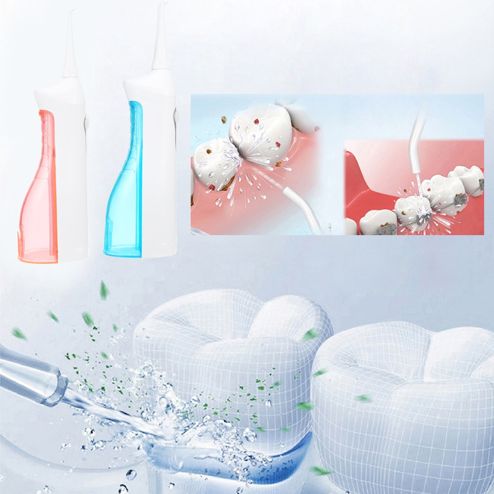 Electric Oral Irrigator Portable Water Floss Teeth Cleaner BLUE