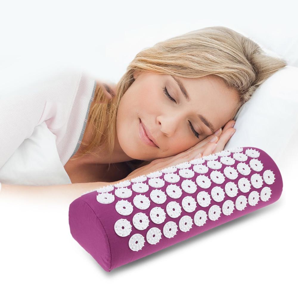 Acupressure Massage Pillow Massaging Relaxation Cushion PURPLE