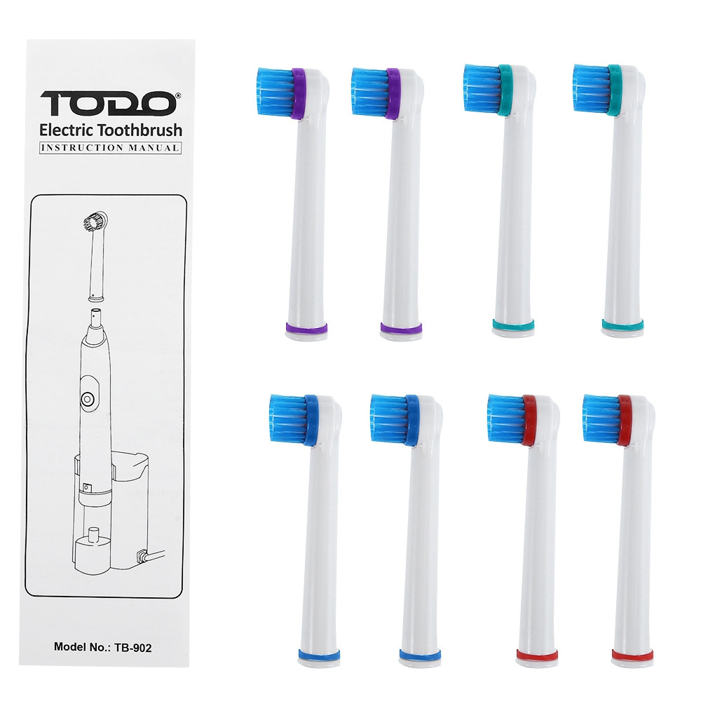 TODO TB - 902 Rechargeable Electric Toothbrush Dental Safeguards Oral Health Care Cleaning Tools with Replaceable Brush Head WHITE AU PLUG