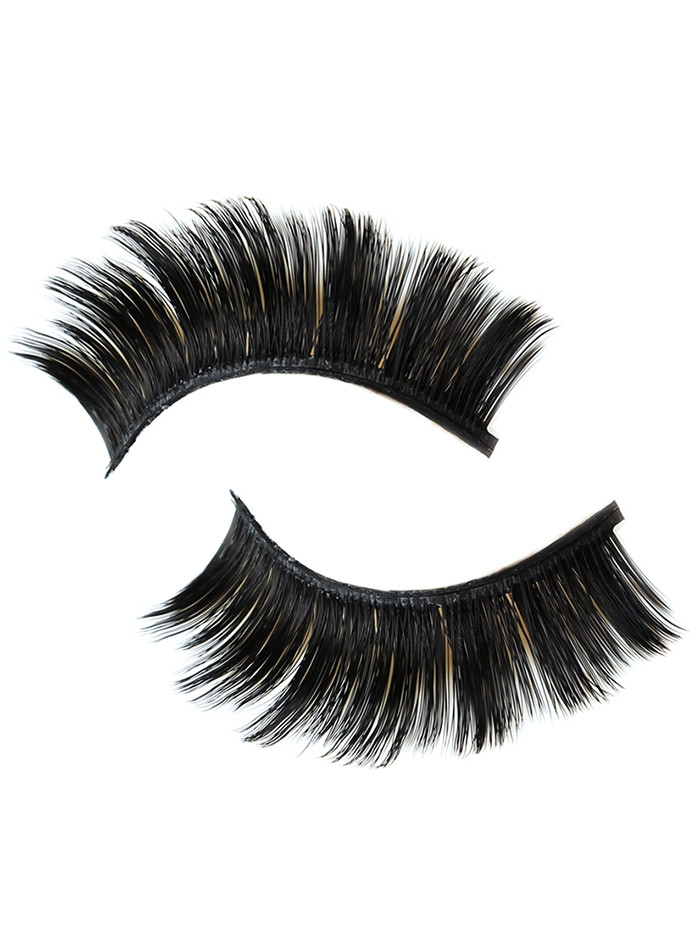 3Pcs Glam Volume Sexy Looking Makeup Fake Eyelashes BLACK