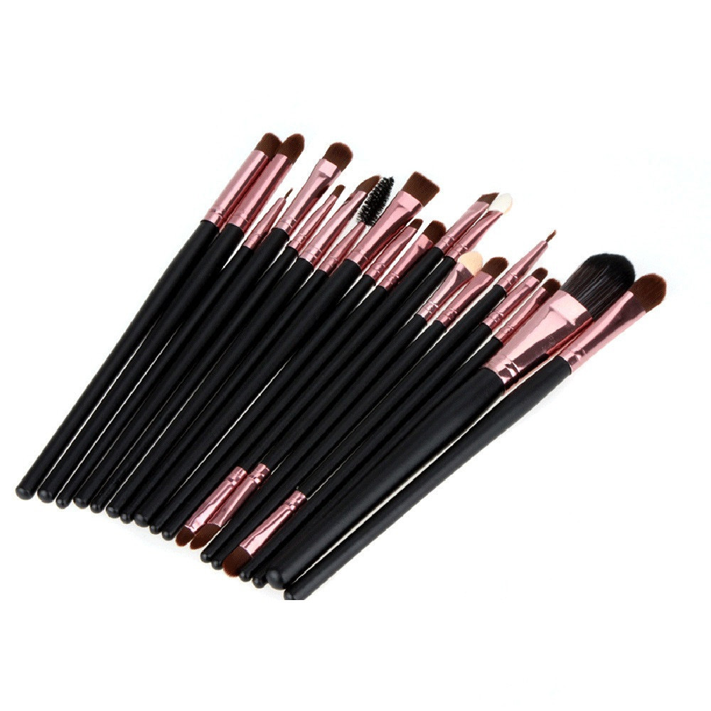 20pcs Professional Eye Makeup Brush Set BLACK