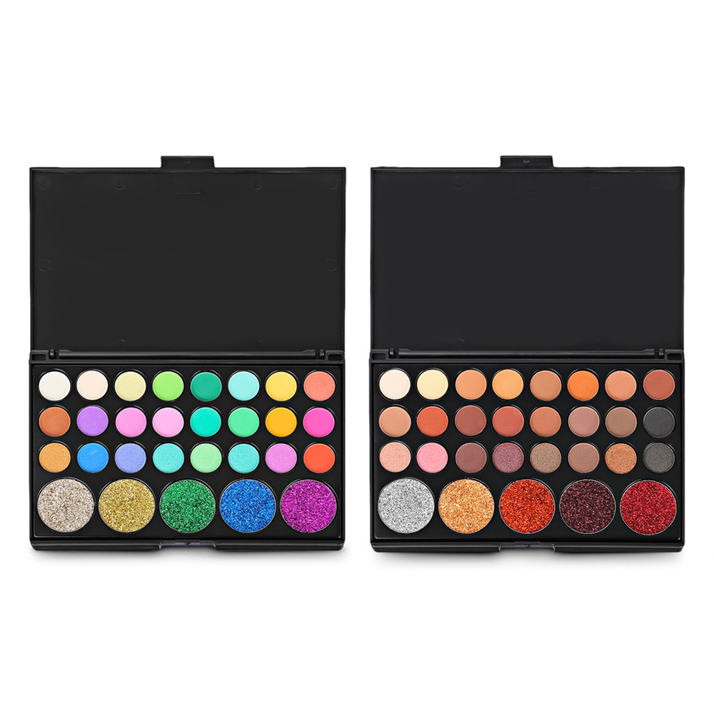 Popfeel 29 Colors Eye Shadow Shimmer Matte Makeup Portable Palette #001