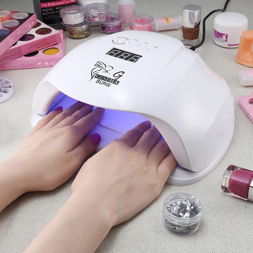 Gustala SUNX UV / LED 48 / 54W Nail Dryer Gel Polish Smart Curing Lamp WHITE US PLUG