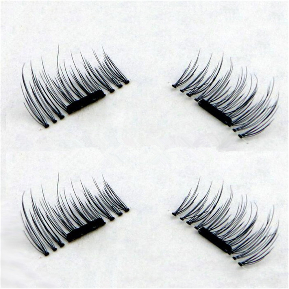Magnetic Eyelashes Extension Eye Beauty Makeup Accessories Soft Hair BLACK