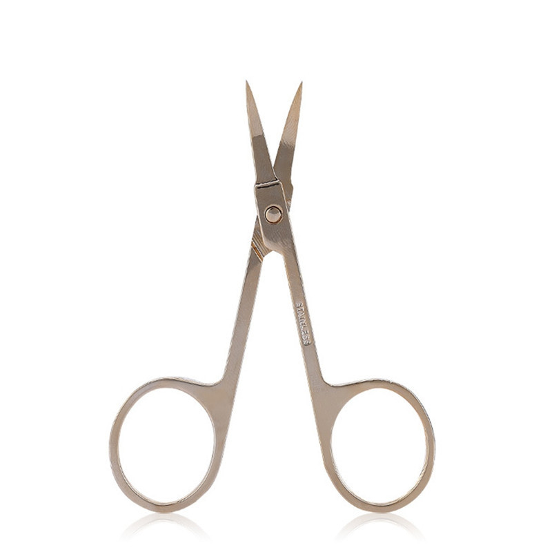 Lameila Multi-function Stainless Steel Golden Small Scissor Makeup Tool GOLDEN