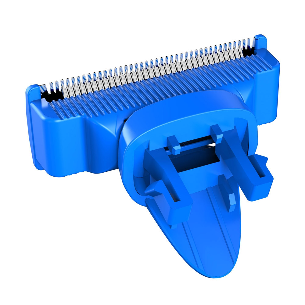 Rotating Double-edge Blade Rust-proof Shaving Head for RHC5000 Men Electric Razor BLUE