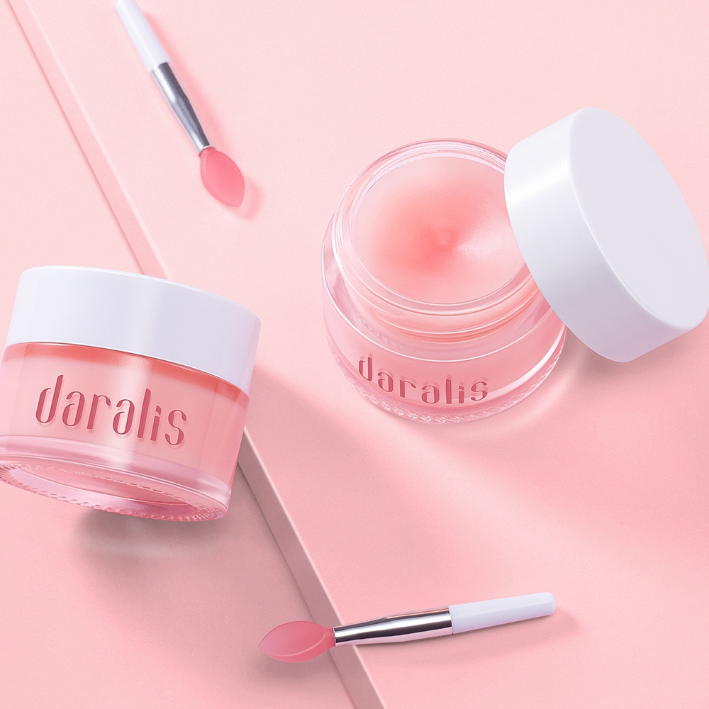 DARALIS Strawberry Double Lip Cream 15g Nourish Repair Moisturize Lips LIGHT PINK