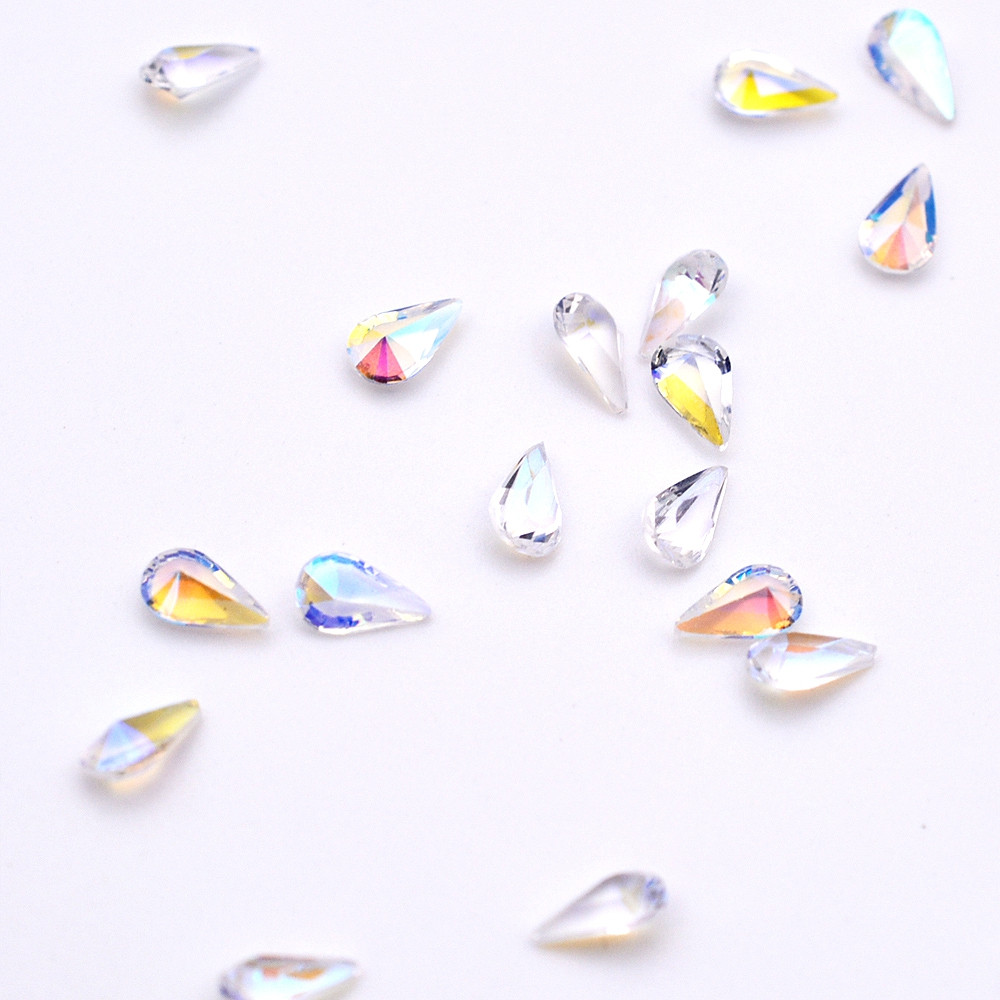 1 Pack Mix 5 Size AB Crystal Rhinestones Nail Acrylic Horse Eye Accessory BR102 TRANSPARENT