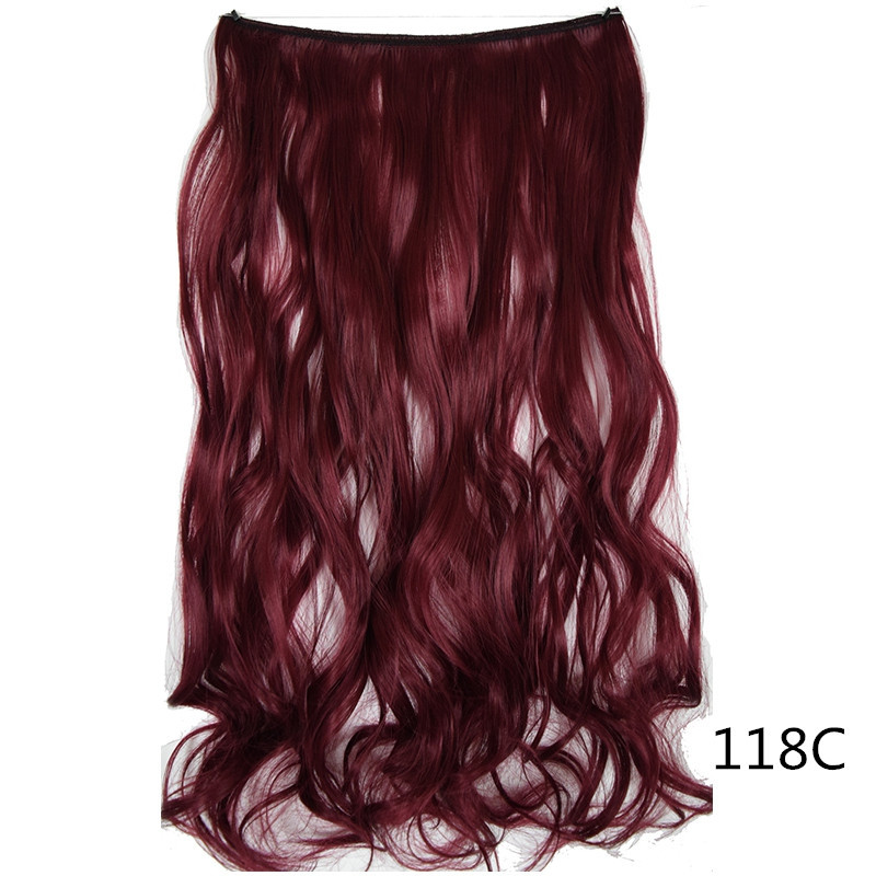 Long Wave Hair Extension Without Clip Fish Line Synthetic Wig #029