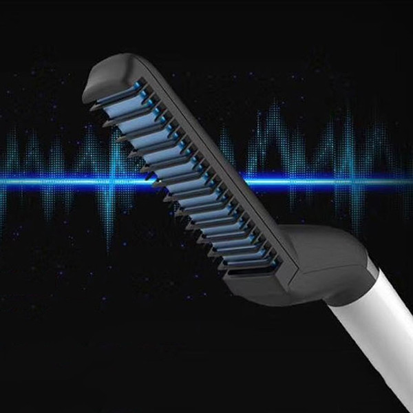 Multifunctional Men Hair Styling Comb Roll Straight Style BLACK UK PLUG