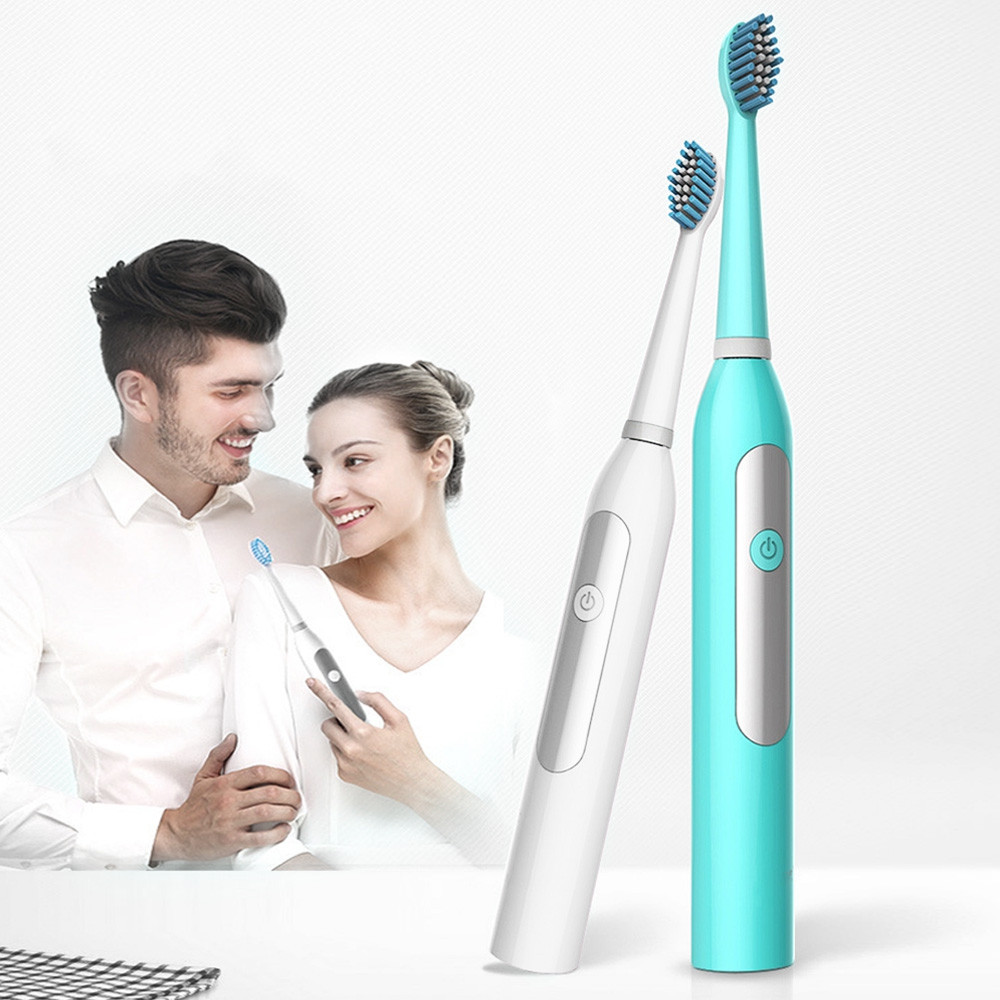Ultrasonic Cleaning Electric Toothbrush with 2 Replacement Brush heads CELESTE