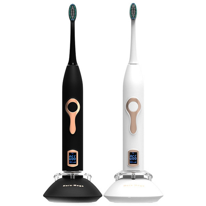 608 Magnetic Suspension LCD Electric Toothbrush WHITE