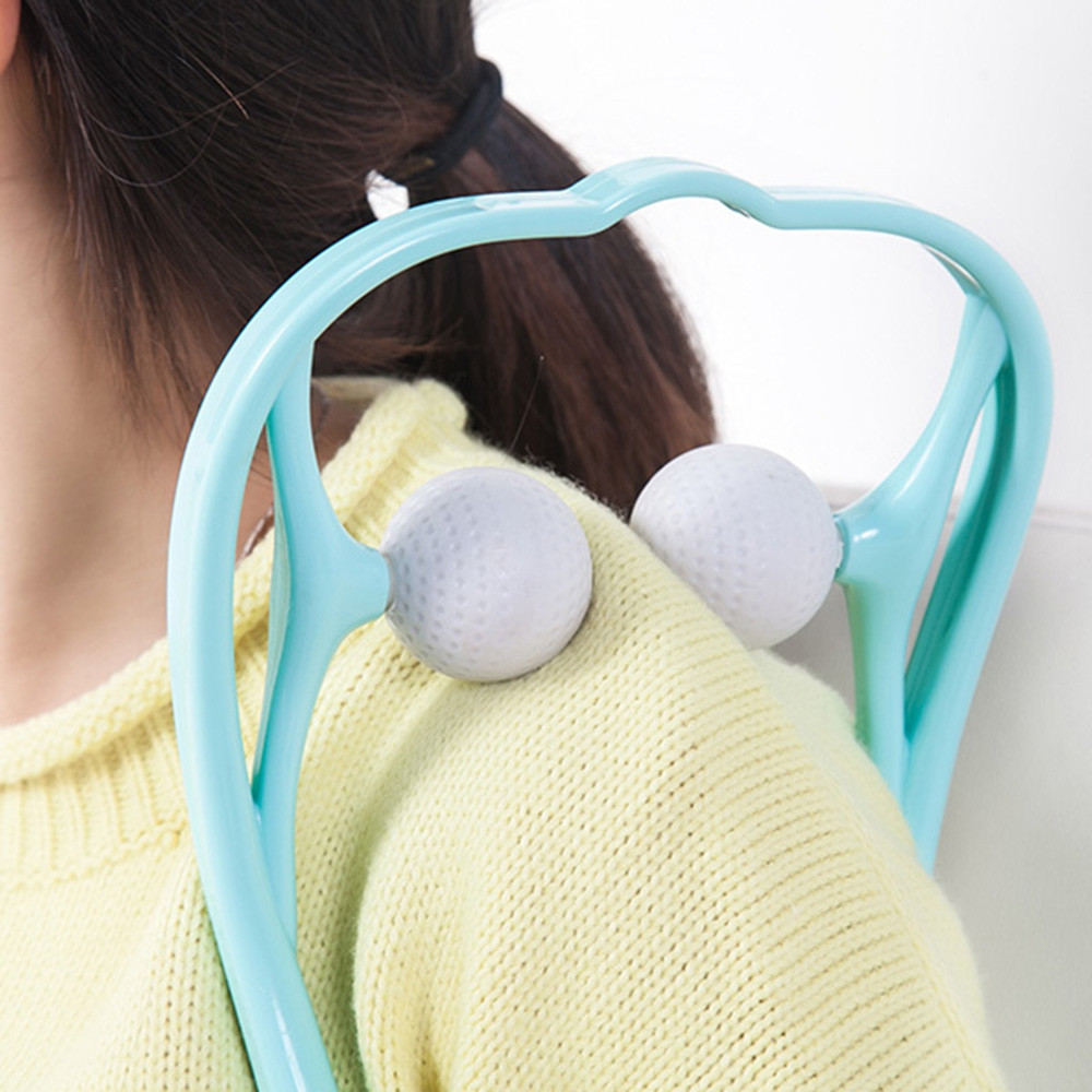 Manual Cervical Massager Clip Neck Acupressure Squeezer Home Office ROBIN EGG BLUE