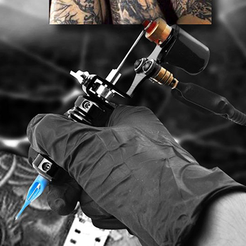ATOMUS TZ0020 Multiple Voltage Testing Tattoo Set with Foot Pedal  BLACK