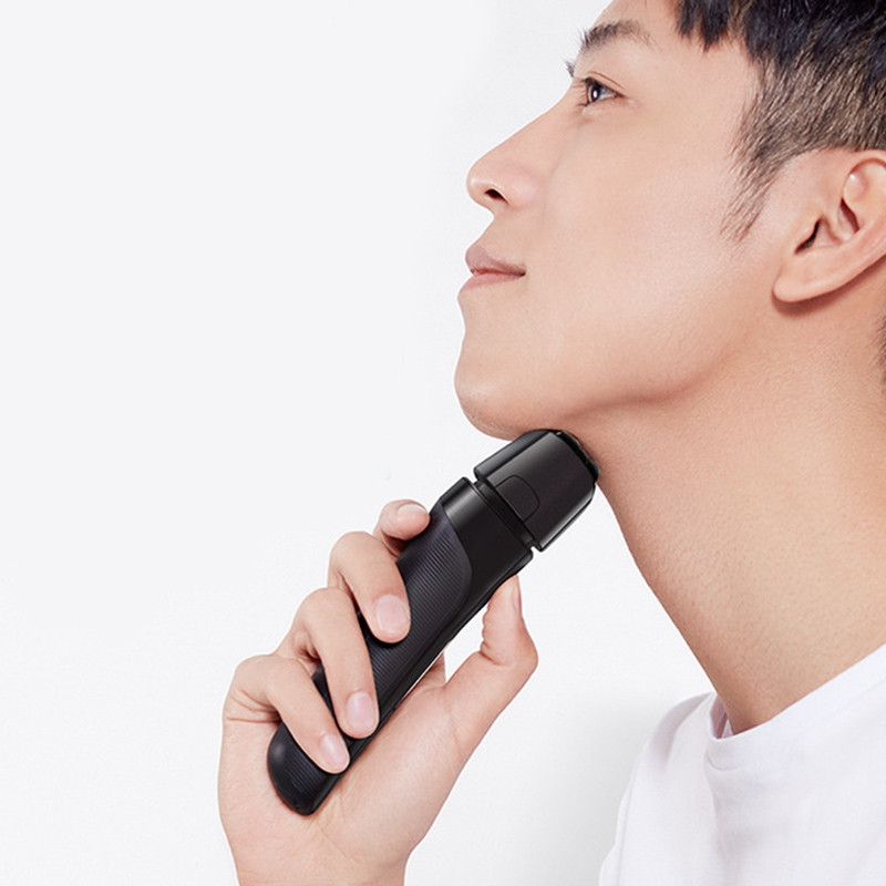 Smate ST - W482 Electric Shaver Rechargeable 4 Cutter Full Waterproof Body ( Xiaomi Ecosystem Product ) BLACK