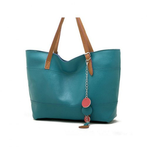 Women's Cute Shoulder Bag Shopper Tote Bag Handbag LAKE BLUE