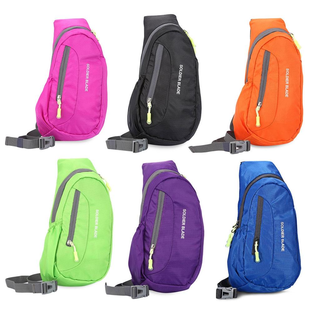 Guapabien Trendy Single Shoulder Outside Waterproof Multifunctional Chest Bag GREEN 40 X 20 X 7 CM