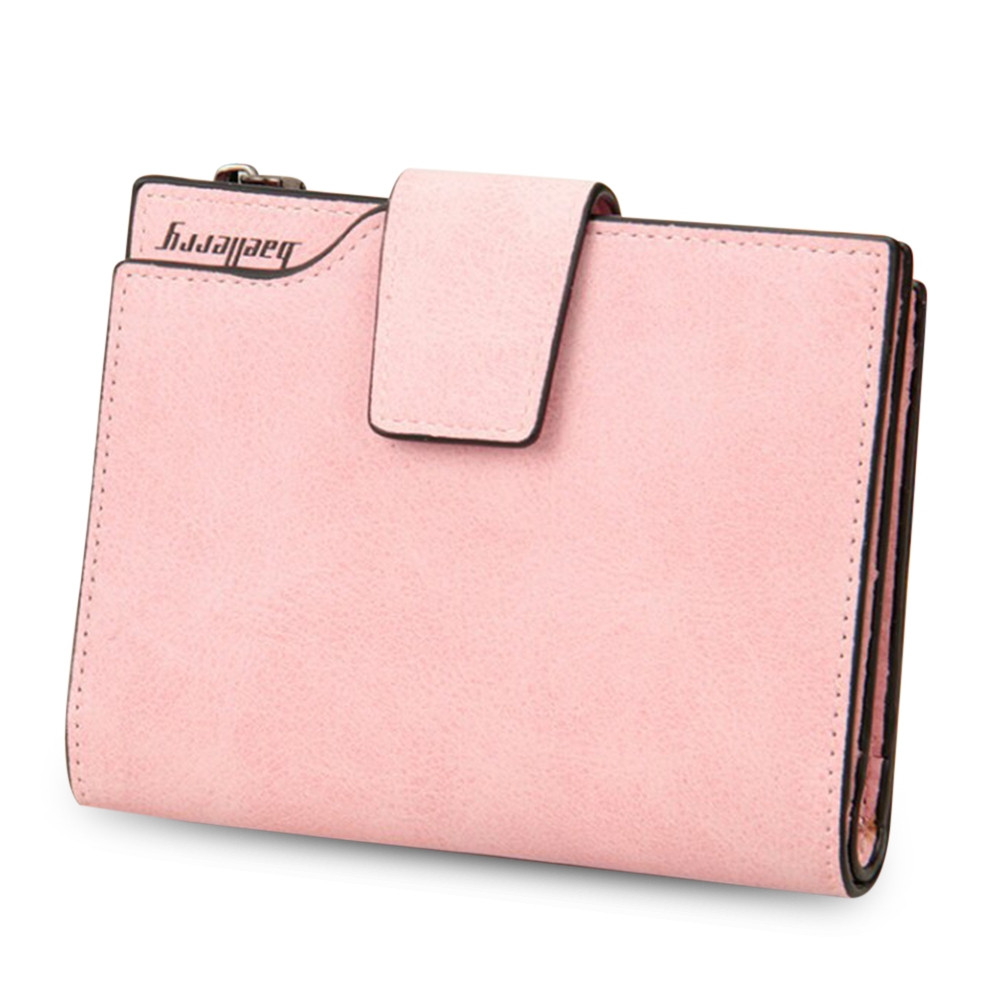 Baellerry Stylish Card Holder Short Clutch Wallet for Women PINK
