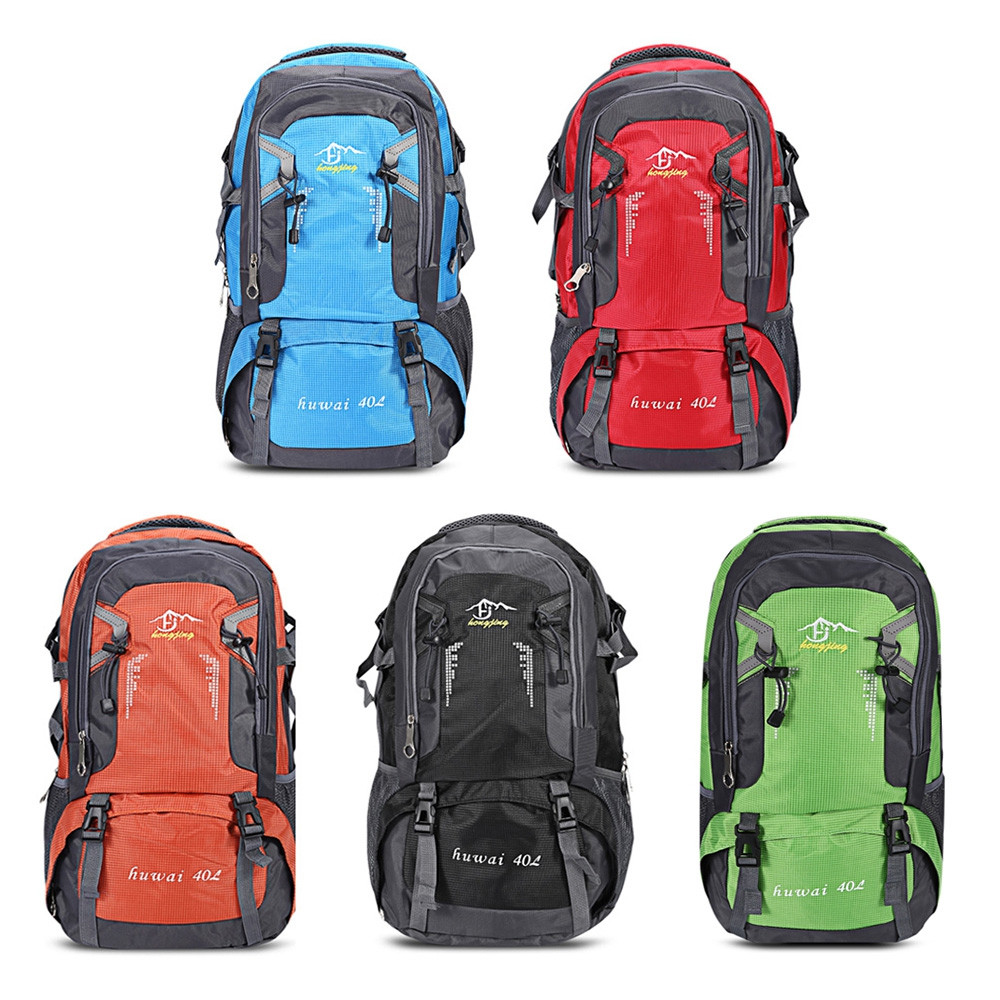 Guapabien Outdoor Hiking Climbing Sports Backpack Travel Bag BLUE