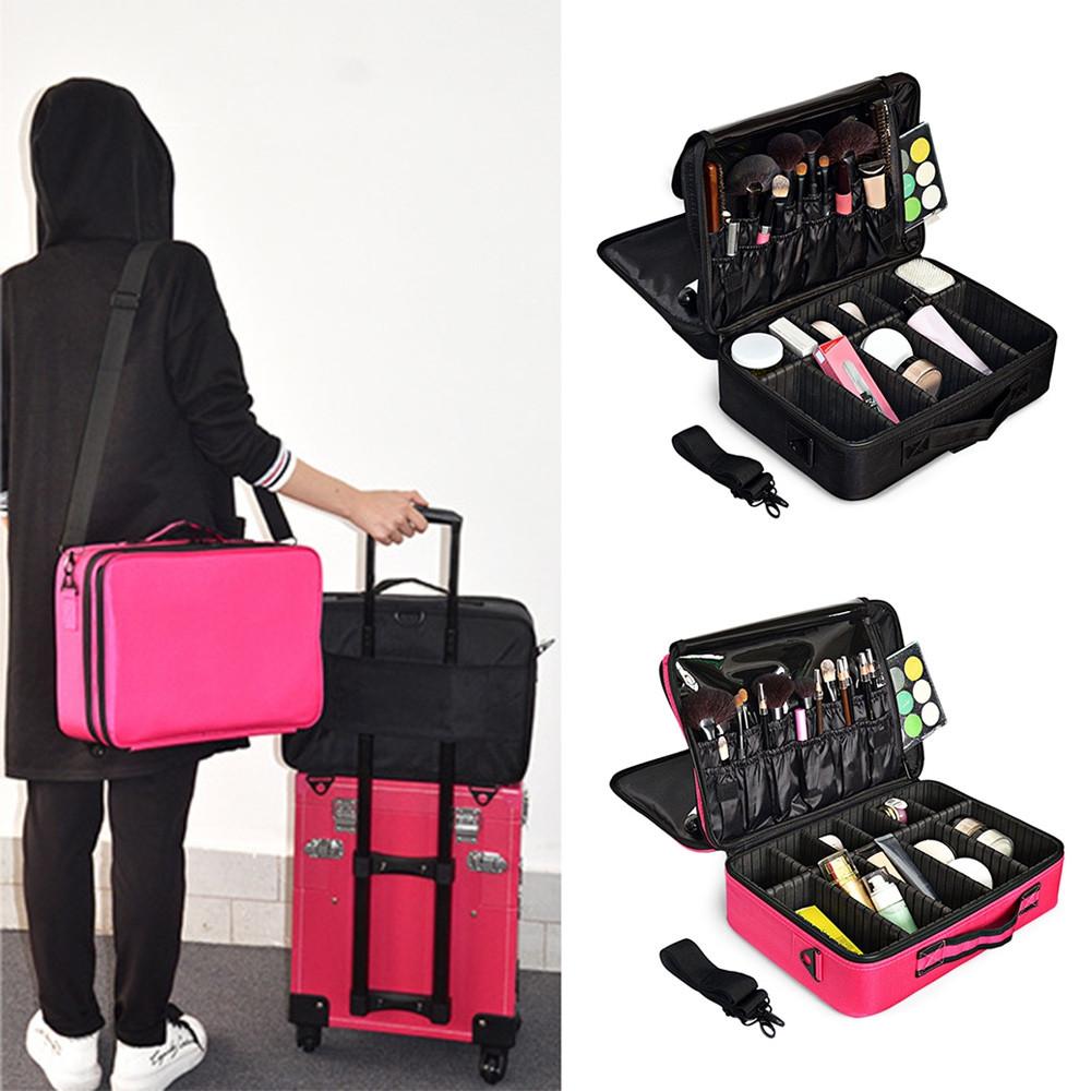 Guapabien Makeup Bag Cosmetic Case Organizer Toiletry Pouch BLACK