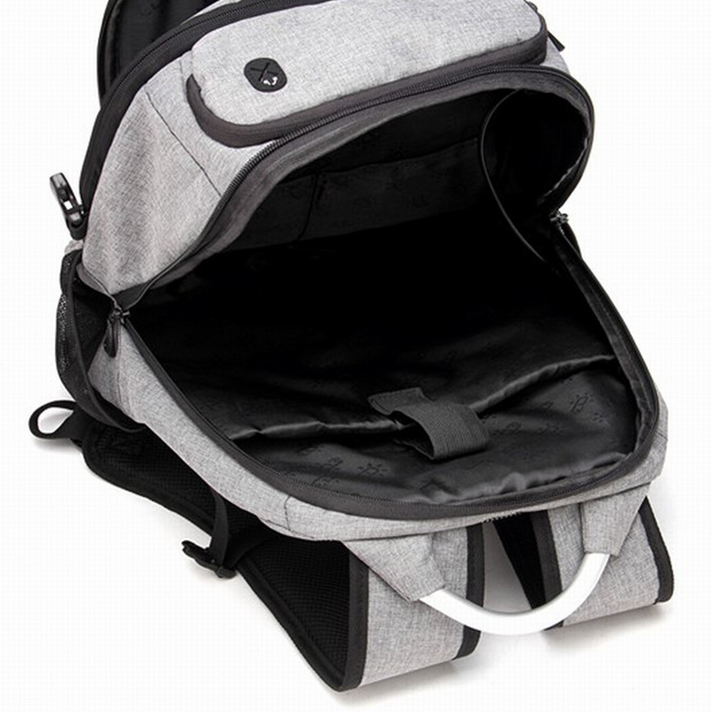 Men'S Business Computer Bags Casual Backpack GREY