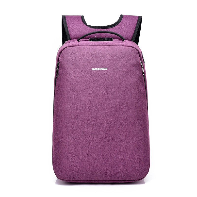 Anti-Theft Backpack Multi-functional Business Travel Backpack PURPLE