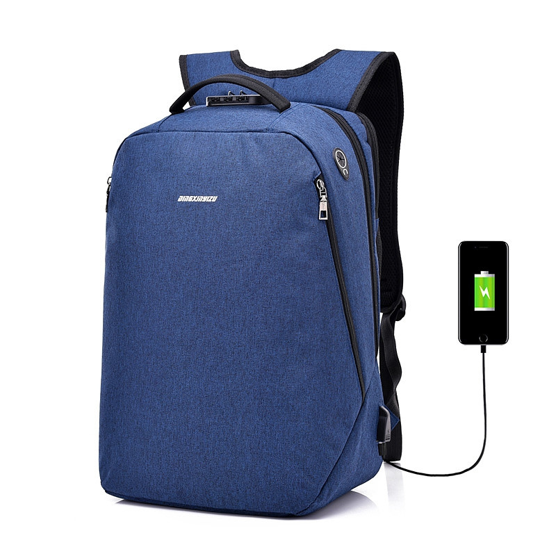 Anti-Theft Backpack Multi-functional Business Travel Backpack BLUE