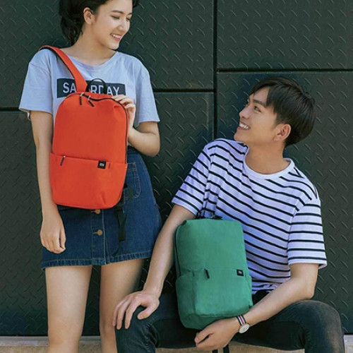 Xiaomi Solid Color Lightweight Water-resistant Backpack  ORANGE