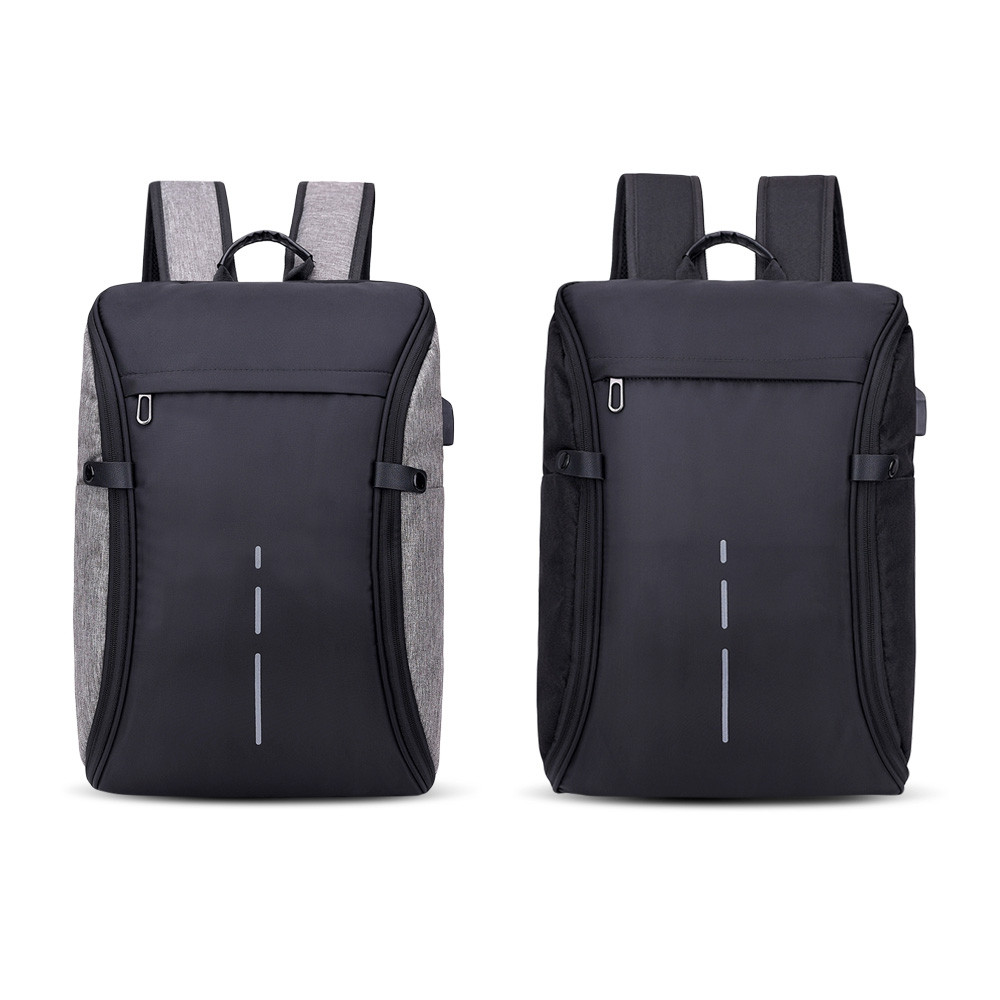 Men's USB Charging Multi-function Large Capacity Backpack BLACK