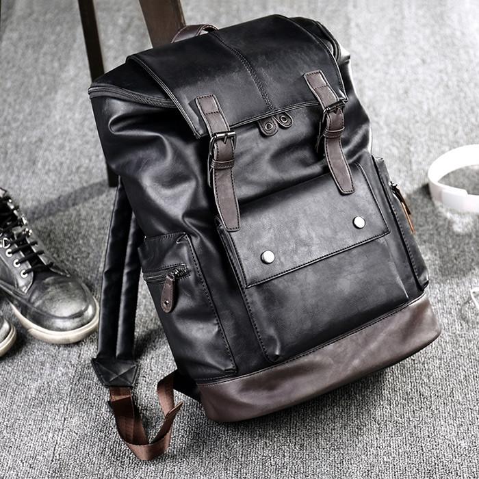 Fashion Wear-resistant Business Men Backpack BLACK