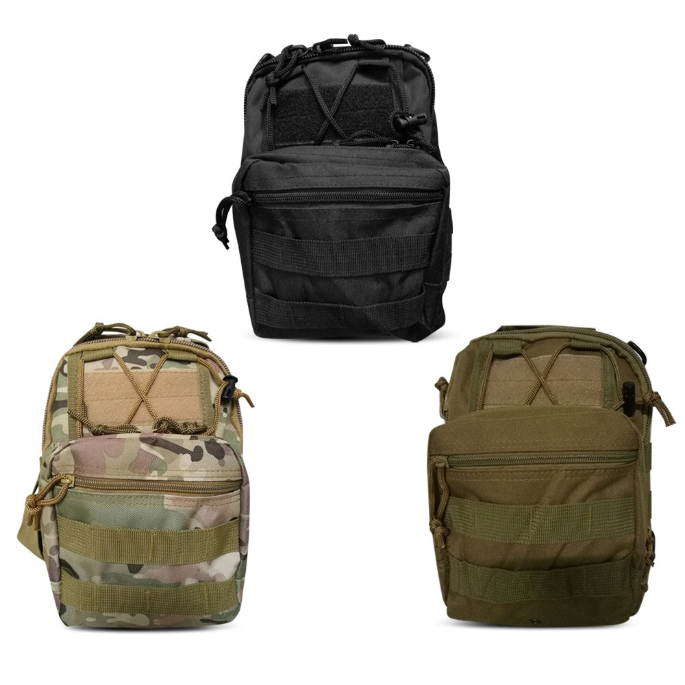 Durable Sports Casual Crossbody Chest Shoulder Bag ACU CAMOUFLAGE