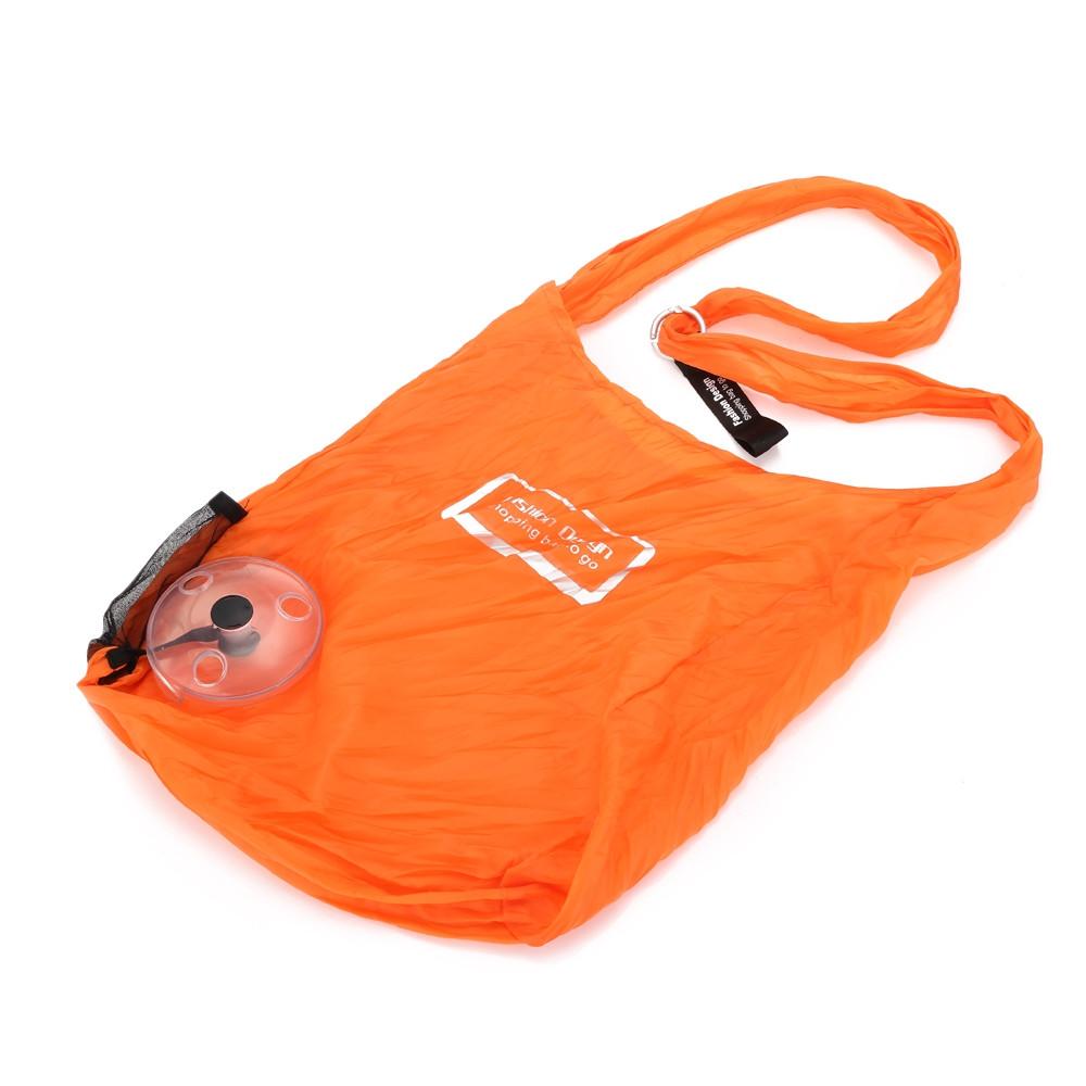 Guapabien Portable Reusable Shopping Bag with Carabiner ORANGE