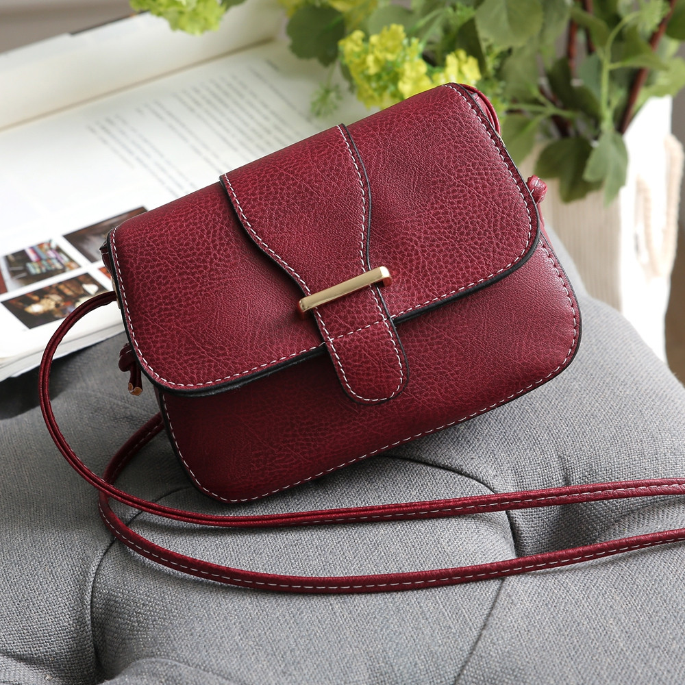 Solid Color Crossbody Bags RED 1PC