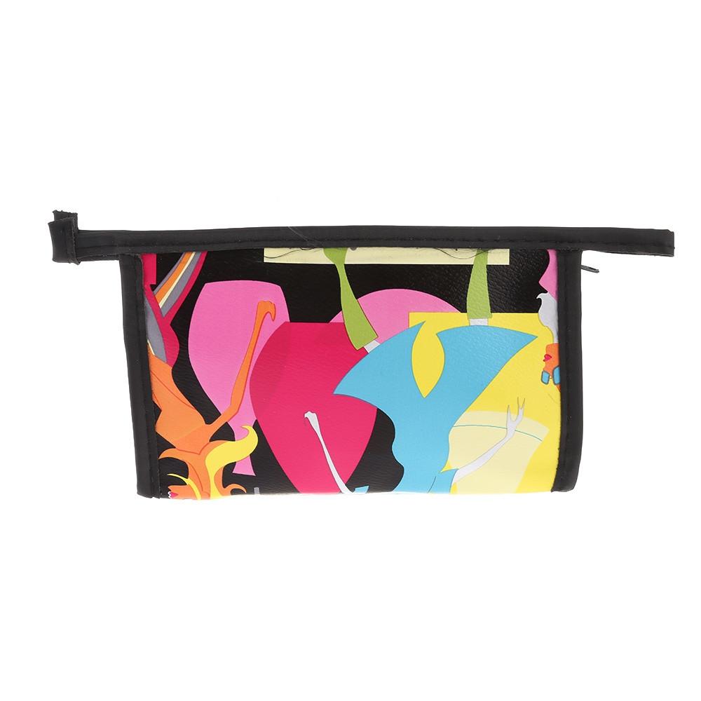 Women Portable Cosmetic Bag Makeup Pouch 3PCS MULTI-C