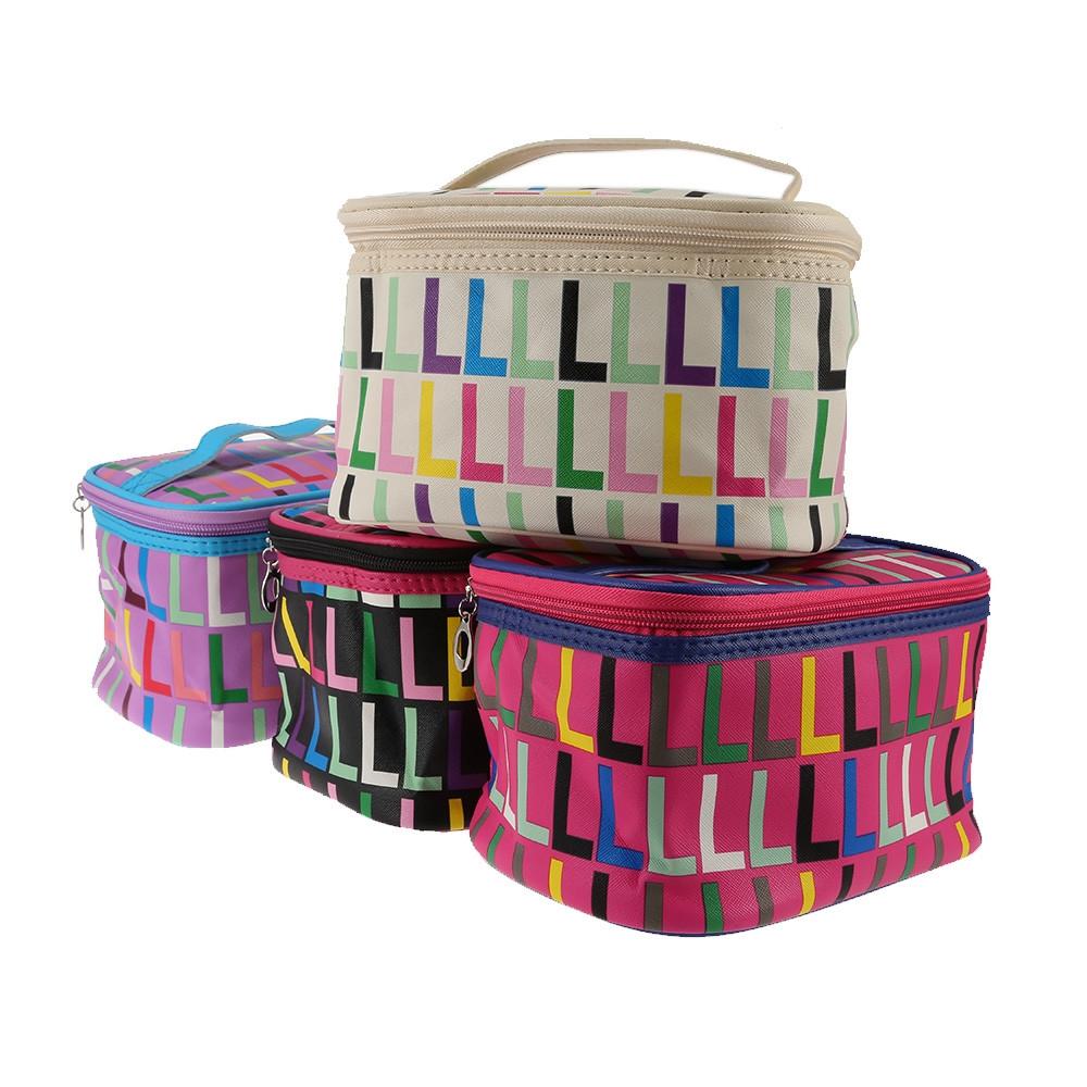 Waterproof Print Makeup Travel Storage Wash Receive Bag BEIGE