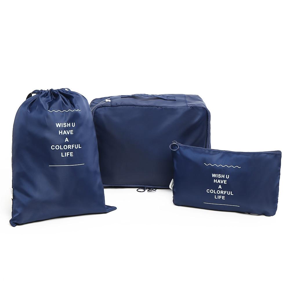 6 Pieces Travelling Storage Bag Set DEEP BLUE