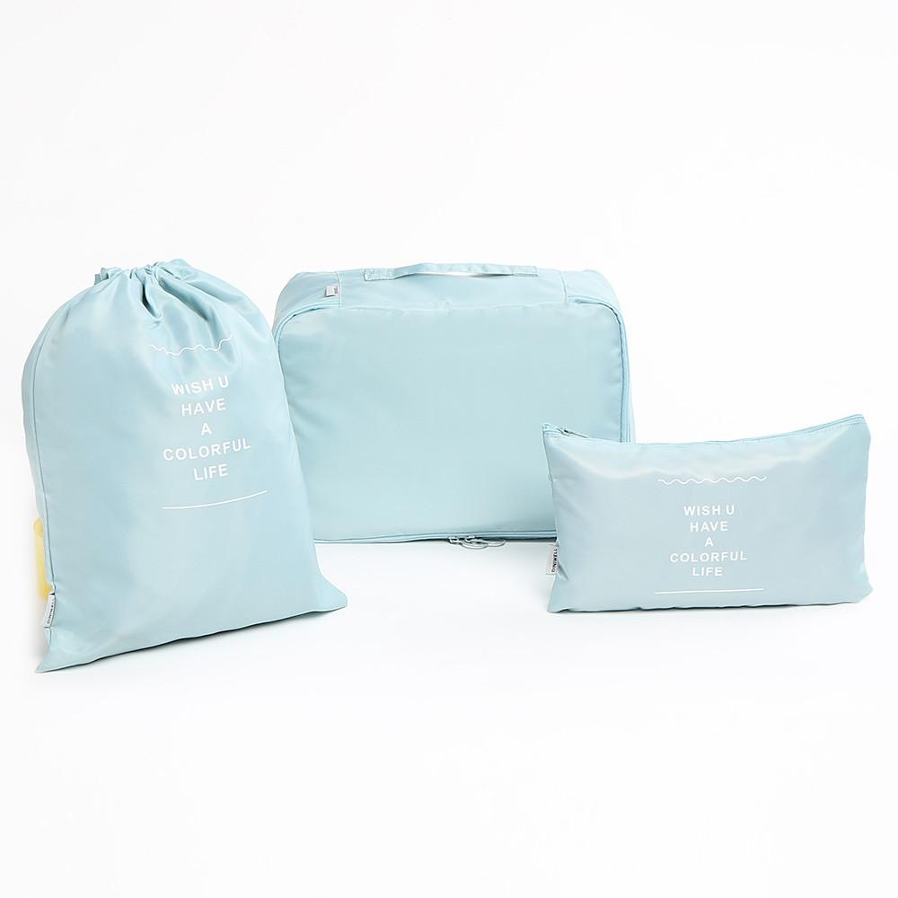 6 Pieces Travelling Storage Bag Set LAKE BLUE