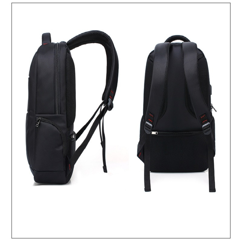 AUGUR Brand Backpacks USB Charging Laptop  Men Teenagers Travel Large Capacity Casual Fashion Style Back Bag BLACK