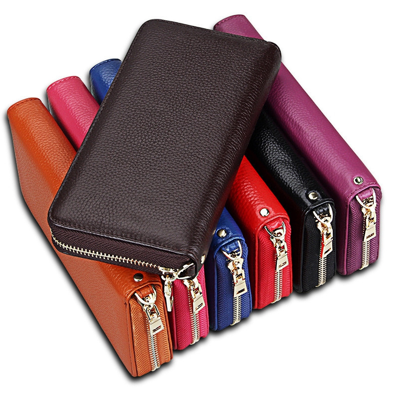 Fashion Women Long Wallets New Style Leather Purses Card Holder Coin Bag Female COFFEE