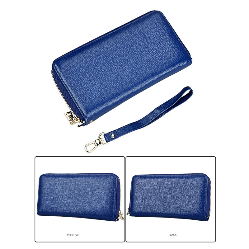 Fashion Women Long Wallets New Style Leather Purses Card Holder Coin Bag Female BLUE