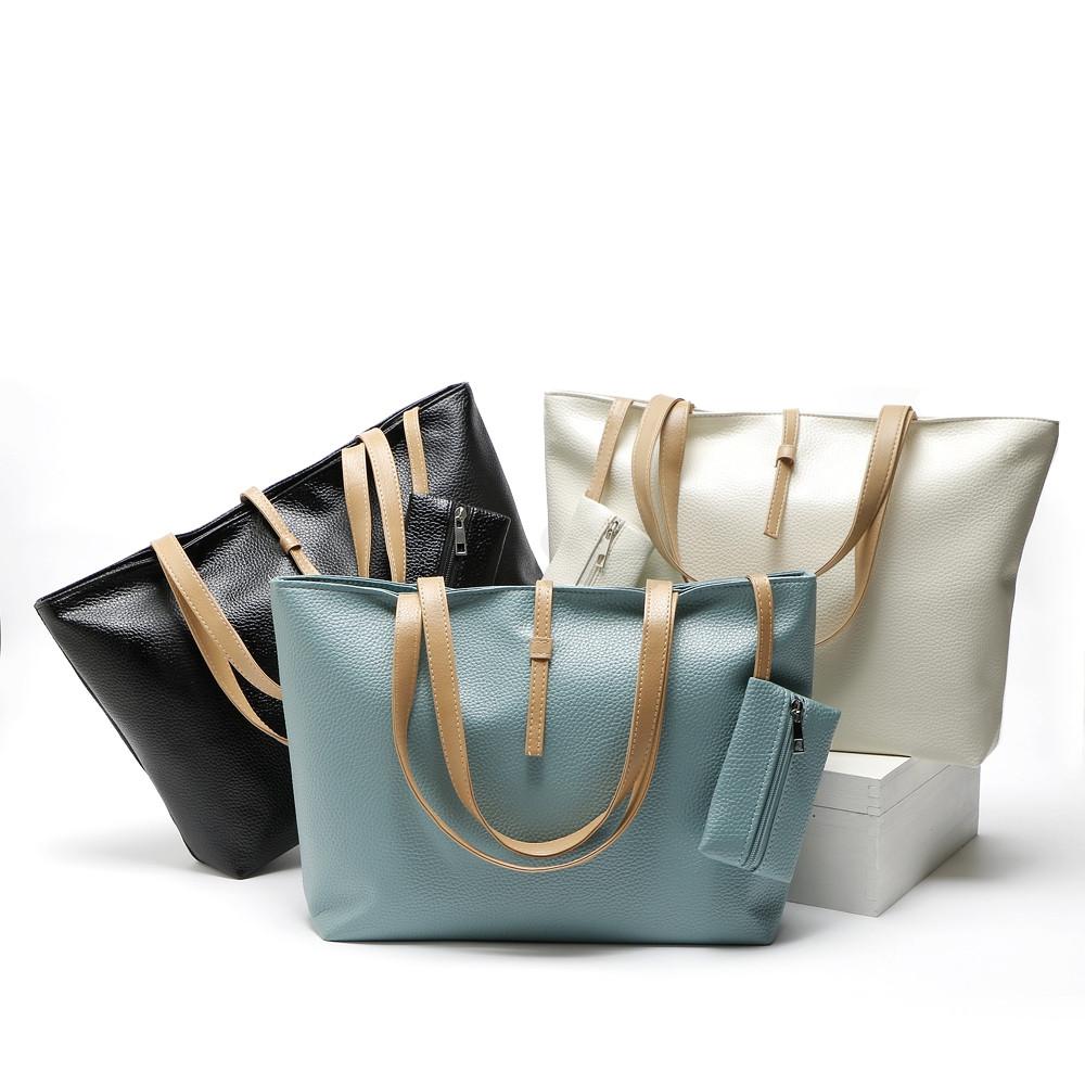 Beach Bag Handbags High Quality Top-Handle Bags Women Bag Ladies Leather Shoulder Bags BEIGE