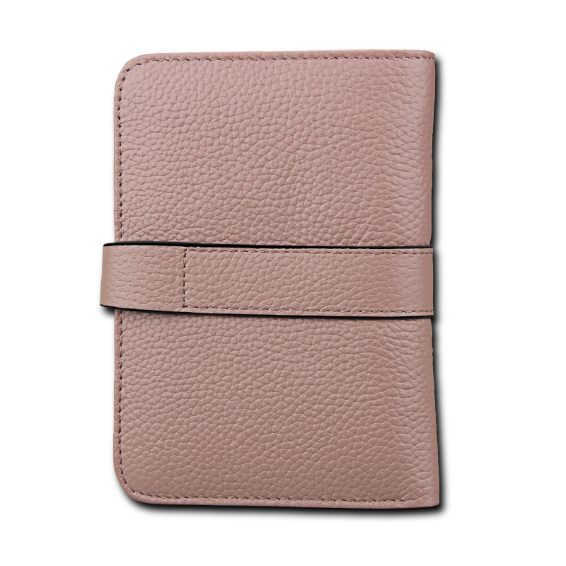 Women Wallets Genuine Leather Clutch Cowhide Fashion Female Purse GRAY PINK