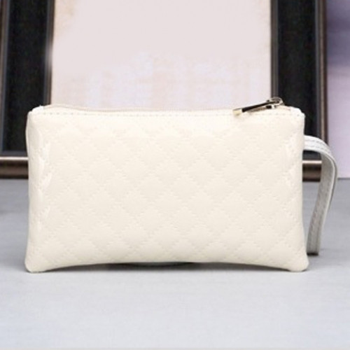 Patent Leather Rhombic Wristlet OFF-WHITE