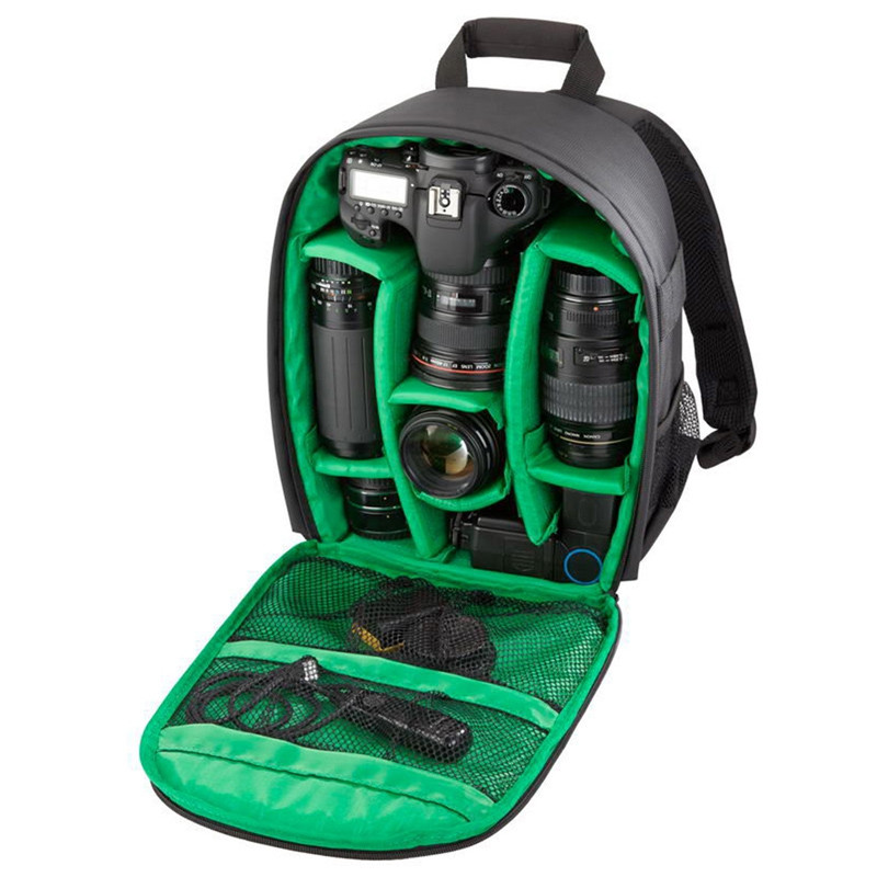 Camera Bag Camera Backpack Waterproof with Rain Cover for Cameras Lens Tripod GREEN