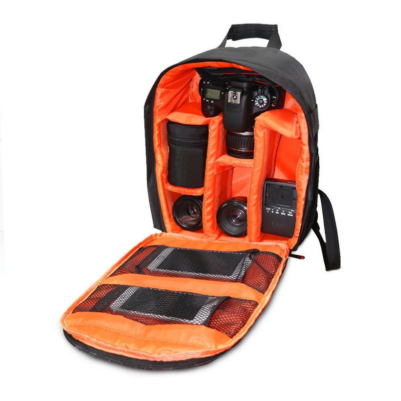 Camera Backpack Bag for Camera Lenses Laptop Tablet and Photography ORANGE